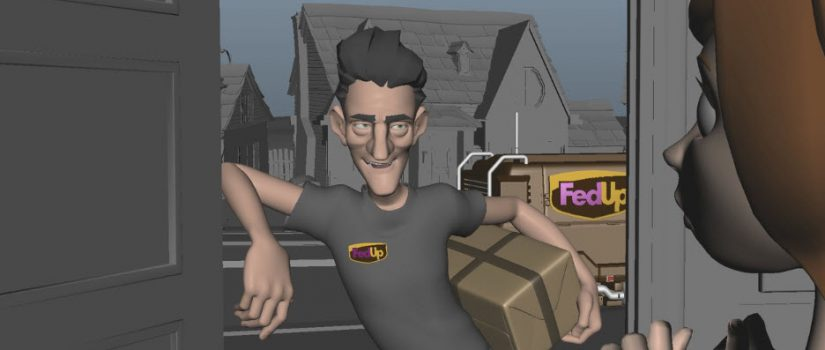 """""""I Hear That"""" screenshot of Long Winter Studios' character rigs Tom and Claire by Roman Kobryn on Vimeo."""